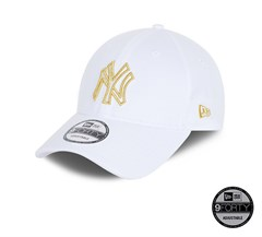 New Era New York Yankees Metallic Logo White 9FORTY Unisex Şapka 60112673