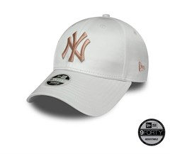 New Era New York Yankees White Satin 9FORTY Unisex Şapka 12040385